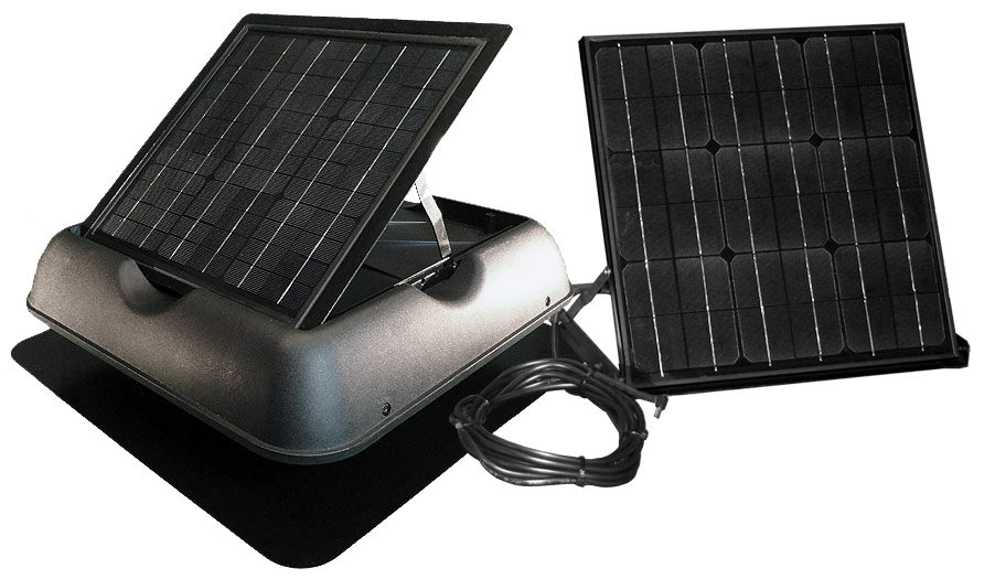 SolarRoyal 55Watt Solar Attic Fan (Ventilation) with Thermostat (SR1800 Series) SRSF-55W08