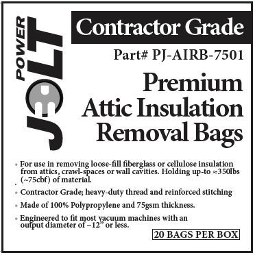 Attic Insulation Removal Bags (PER UNIT)