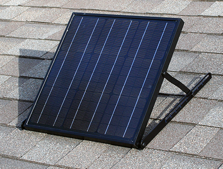 SolarRoyal 25Watt Remote Solar Panel (MonoCrystaline) w/Angle Bracket and Mount